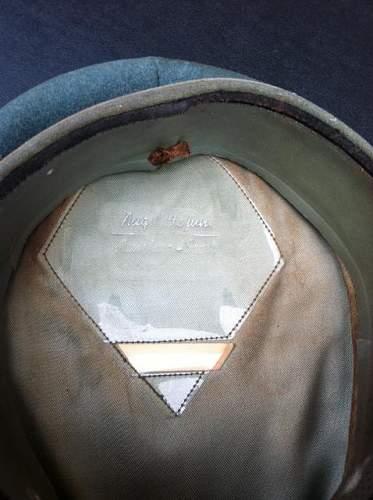 My first German visor hat