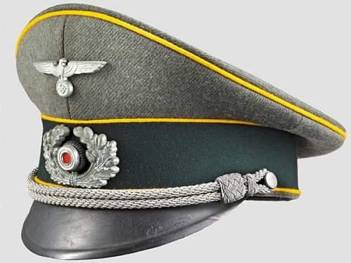 Cavalry or Signals Visor Cap