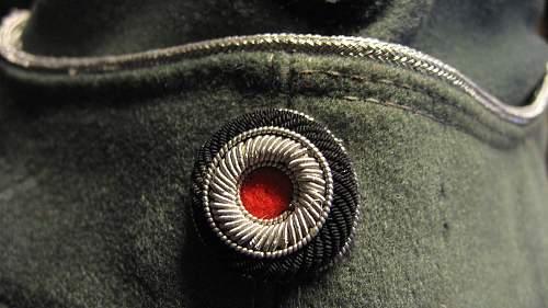heer officer side cap