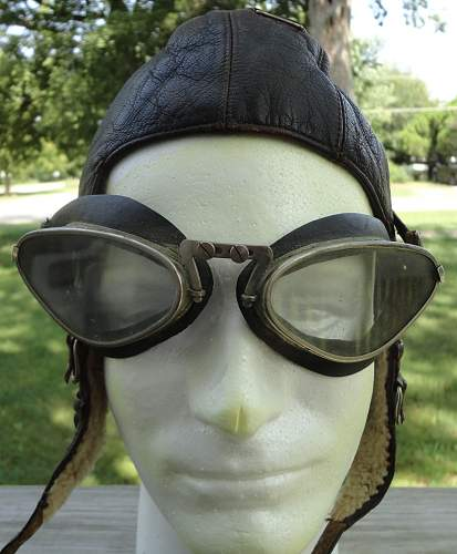 Luftwaffe Aircrew Flight Helmet and Goggles