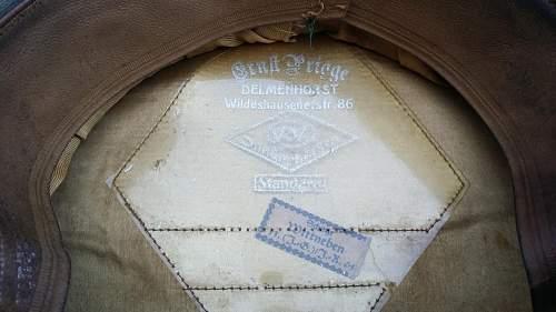 Heer Infantry Officer Schirmutze