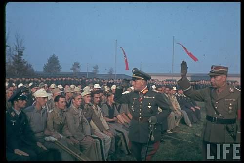 Click image for larger version.  Name:General der Panzertruppe Rudolf Veiel inspecting German exchange POWs returning from England, pr.jpg Views:511 Size:93.7 KB ID:746218