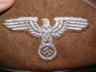 Einsatzstab Reichsminister Rosenberg officer visor hat.