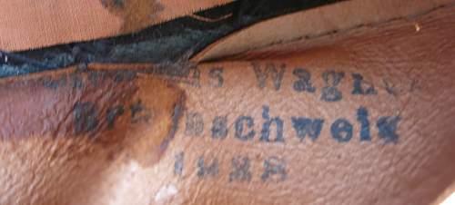 Early Clemens Wagner Heer Panzer OR/NCO visor cap