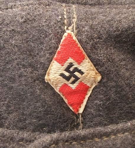 Hitler Youth Flak Helpers cap.