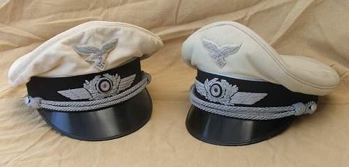 Click image for larger version.  Name:Luftwaffe white top visor caps 001.jpg Views:63 Size:192.4 KB ID:785975