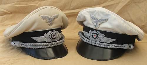 Click image for larger version.  Name:Luftwaffe white top visor caps 005.jpg Views:100 Size:194.6 KB ID:785978