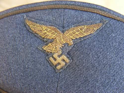 Early Luftwaffe Generals visor cap by Erel.