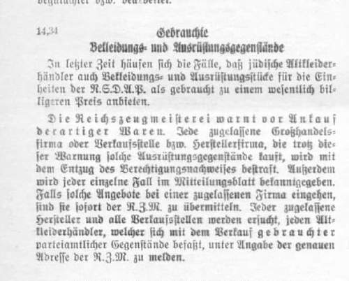Grote, Hannover, schwarze SS Extra Muetze