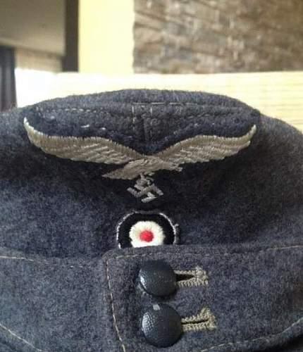 Luftwaffe Einheitsfeldmutze to ID 1944?