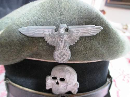 feldgraue SS Schirmmuetze, Unterfuehrer