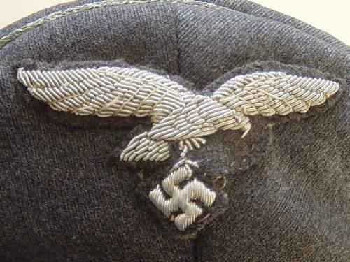 Click image for larger version.  Name:Luftwaffe Officers schirmutze eagle..jpg Views:134 Size:152.1 KB ID:7992