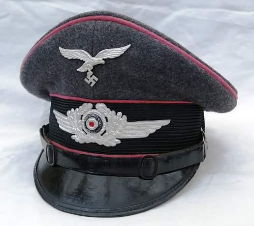 Click image for larger version.  Name:Luftwaffen-Felddivisionen Panzerjäger Schirmmütze 001.jpg Views:199 Size:219.1 KB ID:808878