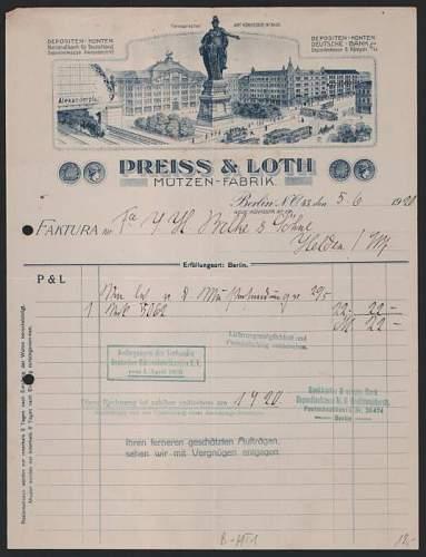 Click image for larger version.  Name:Rechnung-Berlin-1920-Neue-Koenigstr-89-Preiss-Loth-Muetzen-Fabrik-Alexanderplatz-mit-Bahnhof.jpg Views:38 Size:42.6 KB ID:810879