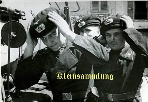 Heer Schirmmuetze, Panzer