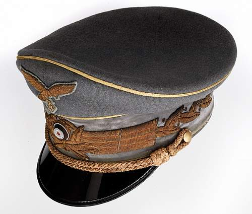 The Visor Hats of AH, Goring, and Feldbischof Rarkowski at Auction (for review & comment)