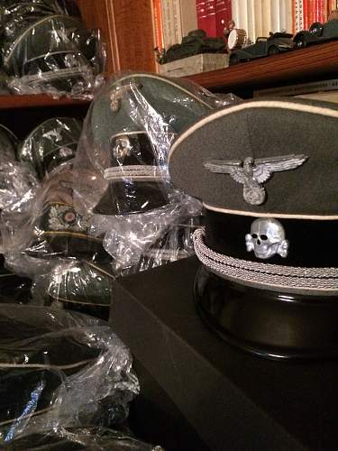 """Finished my """"3rd Reich Headgear Mancave"""""""