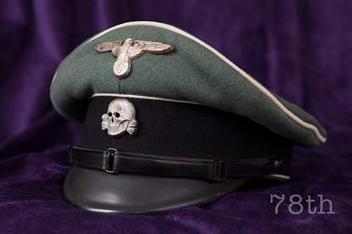 Waffen SS NCO Visor Cap