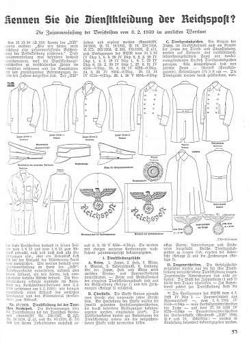 Uniformenmarkt : Reichspost