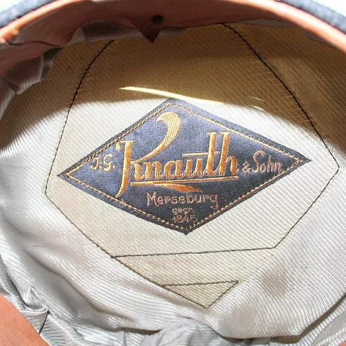 Luftwaffe officer summer visor cap