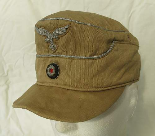 Click image for larger version.  Name:Luftwaffe tropical officer M41 cloth cap 001.jpg Views:258 Size:152.3 KB ID:830006