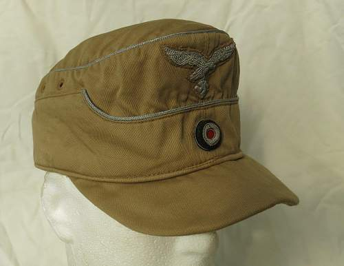Click image for larger version.  Name:Luftwaffe tropical officer M41 cloth cap 002.jpg Views:551 Size:142.6 KB ID:830007