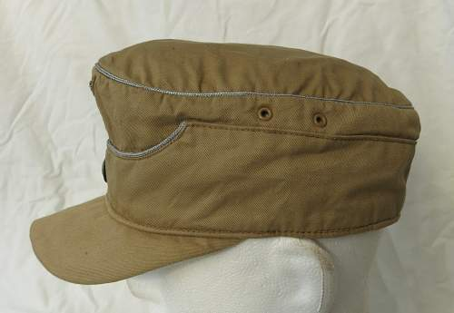 Click image for larger version.  Name:Luftwaffe tropical officer M41 cloth cap 006.jpg Views:38 Size:129.9 KB ID:830011
