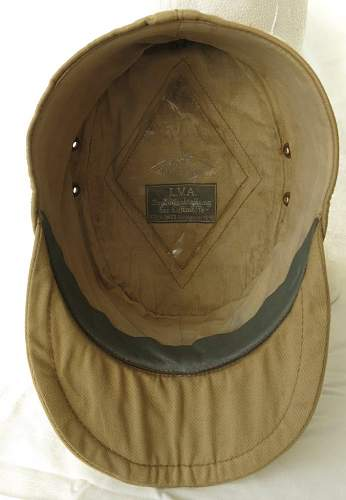 Click image for larger version.  Name:Luftwaffe tropical officer M41 cloth cap 013.jpg Views:46 Size:80.2 KB ID:830017
