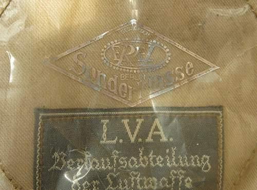 Luftwaffe tropical M41 officer's cloth billed field cap