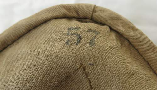 Click image for larger version.  Name:Luftwaffe tropical officer M41 cloth cap 020.jpg Views:42 Size:148.6 KB ID:830023