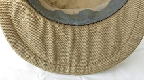 Click image for larger version.  Name:Luftwaffe tropical officer M41 cloth cap 023.jpg Views:34 Size:182.7 KB ID:830025