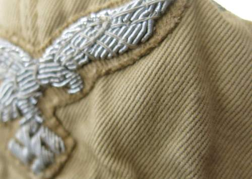 Click image for larger version.  Name:Luftwaffe tropical officer M41 cloth cap 027.jpg Views:29 Size:127.0 KB ID:830029