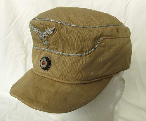 Click image for larger version.  Name:Luftwaffe tropical officer M41 cloth cap 029.jpg Views:49 Size:168.0 KB ID:830031