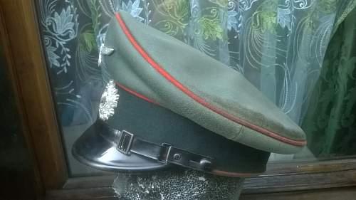 Artillery visor cap