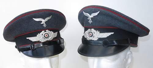 Click image for larger version.  Name:Luftwaffe Flak OR - NCO visor caps 001.jpg Views:28 Size:81.3 KB ID:841558