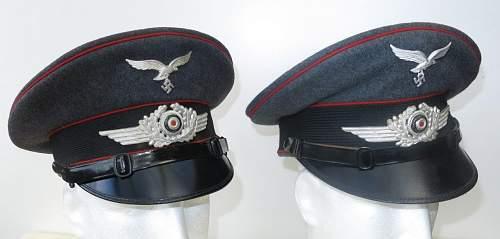 Click image for larger version.  Name:Luftwaffe Flak OR - NCO visor caps 002.jpg Views:22 Size:88.1 KB ID:841559