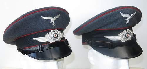 Click image for larger version.  Name:Luftwaffe Flak OR - NCO visor caps 003.jpg Views:27 Size:86.6 KB ID:841560