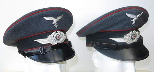A pair of Flak caps from the Luftwaffe