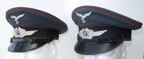 Click image for larger version.  Name:Luftwaffe Flak OR - NCO visor caps 004.jpg Views:25 Size:80.4 KB ID:841561