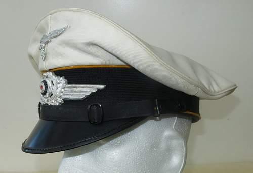 Luftwaffe flight section white top NCO/OR's visor cap