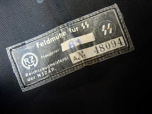 SS Panzer M34 Overseas Cap