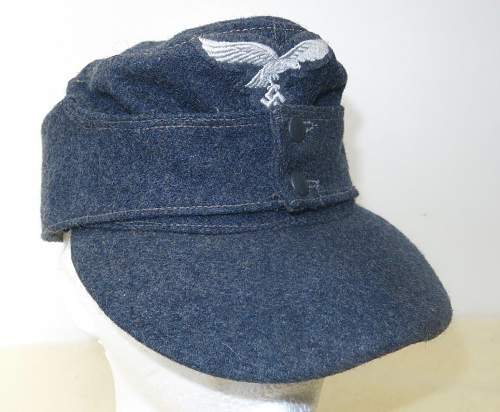 Click image for larger version.  Name:Luftwaffe OR's M43 cap. RB numbered 001.jpg Views:26 Size:172.7 KB ID:843244