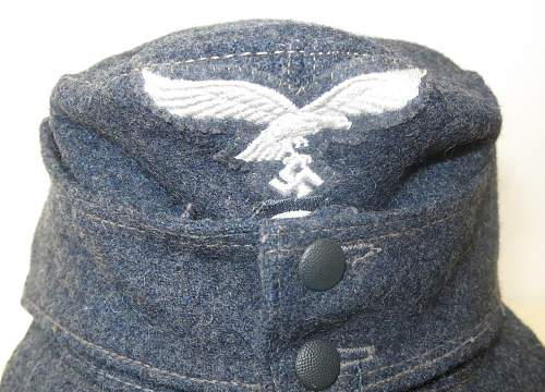 Click image for larger version.  Name:Luftwaffe OR's M43 cap. RB numbered 006.jpg Views:25 Size:166.5 KB ID:843249