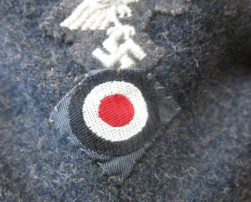 Click image for larger version.  Name:Luftwaffe OR's M43 cap. RB numbered 013.jpg Views:26 Size:170.0 KB ID:843254