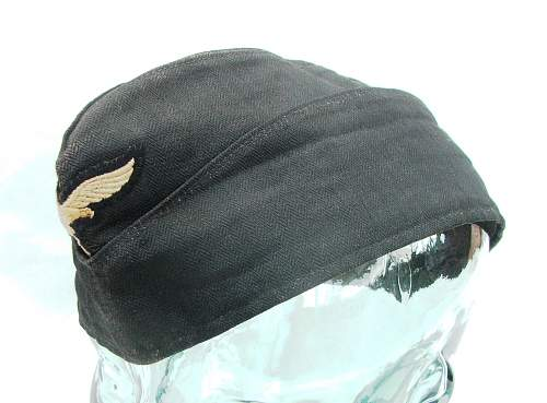 Luftwaffe Mechanics Black Work Cap