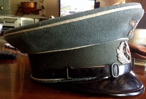Transitional weimar inf visor cap