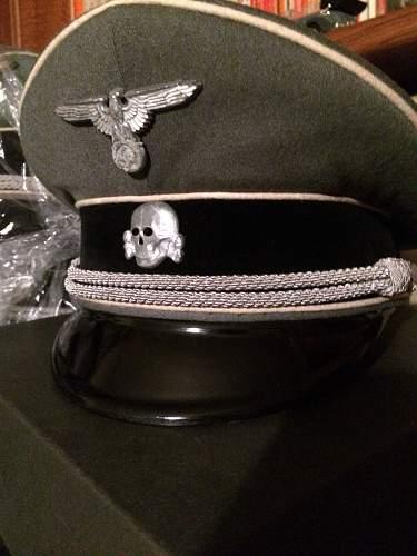 SS Fuehrermuetze, Sonderanfertigung,  Fa Mueller, Muenchen ca. 193X