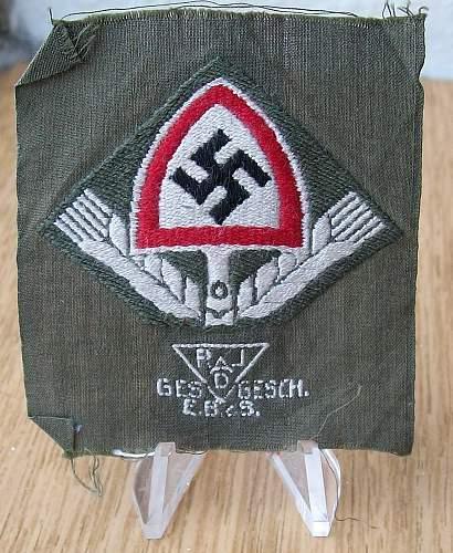 Reichsarbeitdienst Tuchmutze Emblems