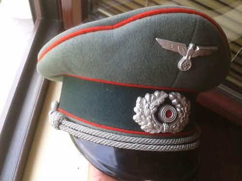 Schirmmütze artillerie artillery cap - real or fake?