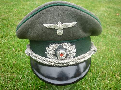 Army Officer Peaked Cap for Review
